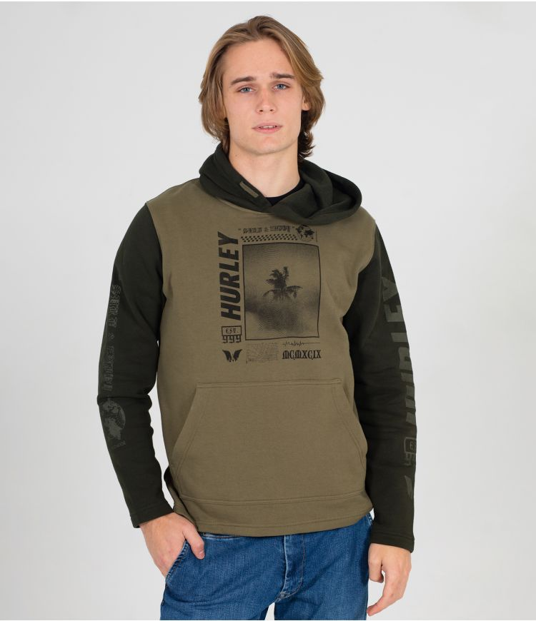 PALM TRIP PULLOVER - MEN|MEDIUM OLIVE|L