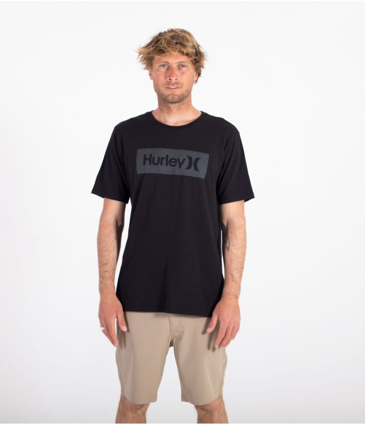 EVERYDAY WASHED ONE & ONLY BOXED TEXTURE S/S  - MEN |BLACK|S