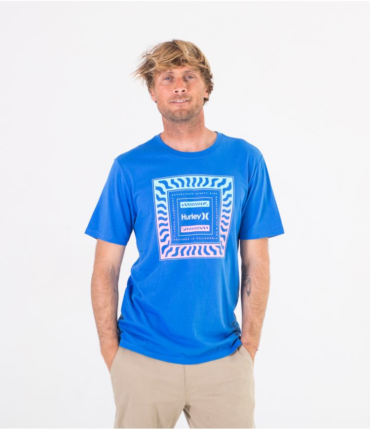 EVERYDAY WASHED WAVE CHECK - MEN|SIGNAL BLUE|S