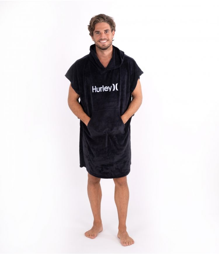 ONE & ONLY HOODED TOWEL - UNISEX|BLACK|1SIZE