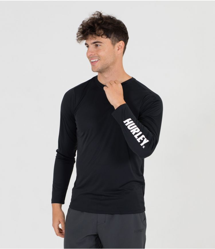 H2O-DRI FASTLANE HYBRID UPF L/S TOP - MEN |BLACK|L