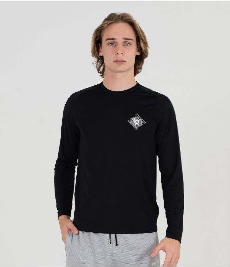 GRAPHIC PACK HYBRID LS TEE - MEN|BLACK|L