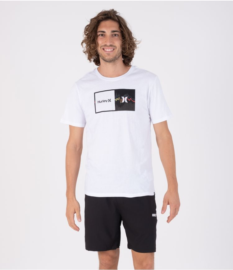 EVERYDAY WASHED DOUBLE UP GLITCH S/S - MEN WHITE S