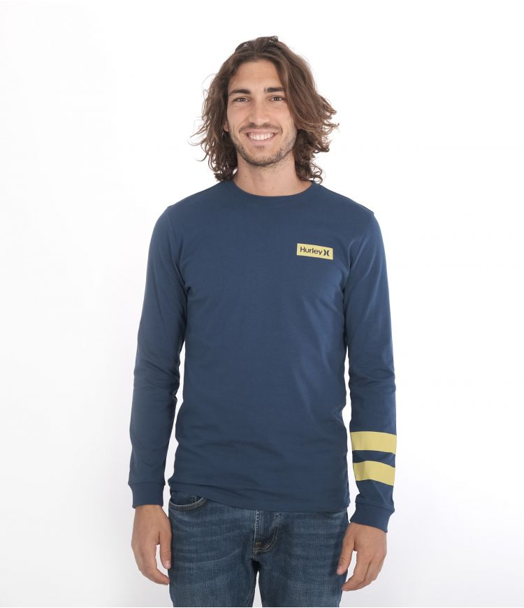 OCEANCARE WASHED BLOCK PARTY L/S TEE - MEN|ARMORY NAVY|L