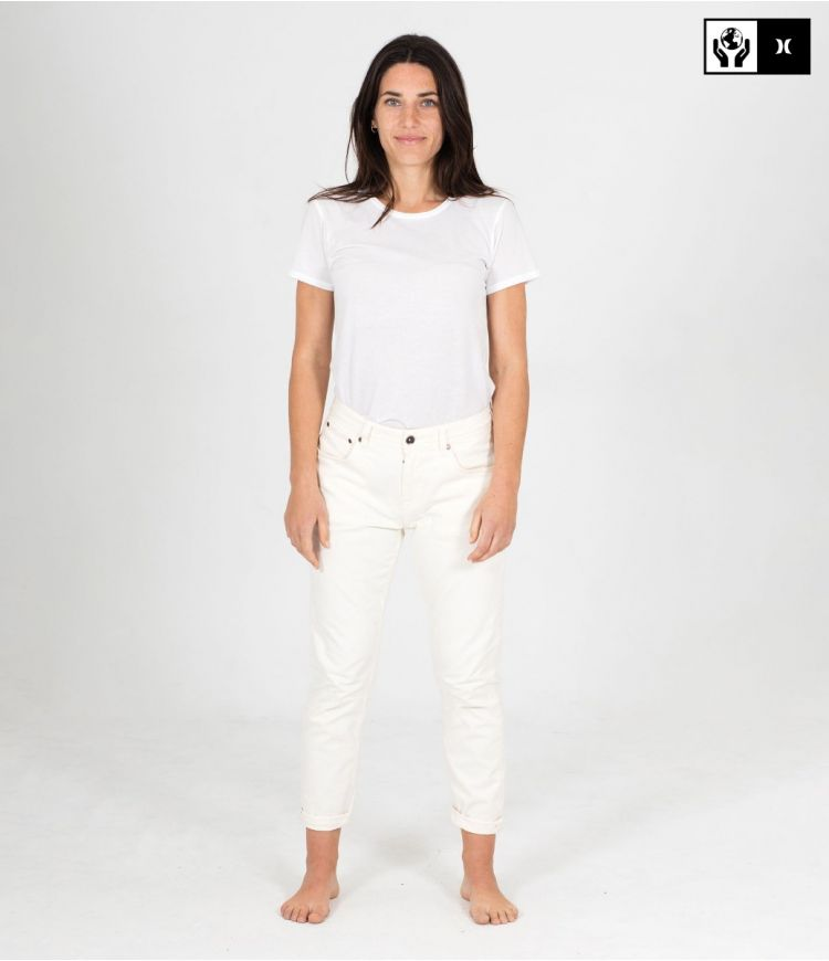 LANEY MOM OCEANCARE DENIM PANT - WOMEN|WHITE|24