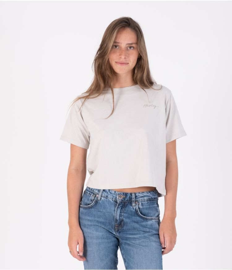 OCEANCARE WASHED COLLEGE S/S TEE - WOMEN|GREY|XS