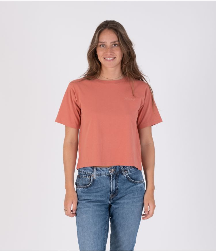 OCEANCARE WASHED COLLEGE S/S TEE - WOMEN|PINK|S